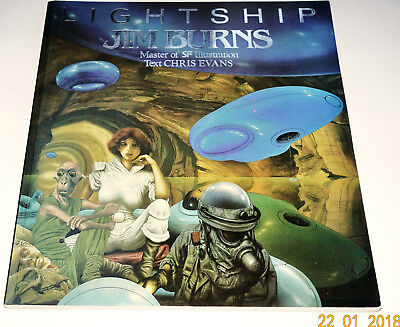 LIGHTSHIP Jim Burns, Master of SF Illustration (SC, UK) very good Condition