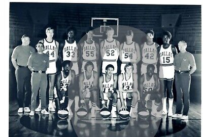 1971-72 Dallas Chaparrals  Basketball  Reprint Team Photo