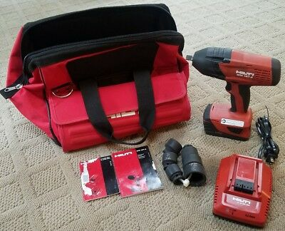 """HILTI 1/2"""" Impact Wrench/Driver SIW 18T-A with 1 Battery, Charger, Sockets, Bag"""