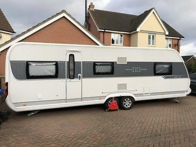 Hobby 695 VIP Premiun 2015 Touring Caravan Twin Axle 5 Berth, Fixed Island Bed