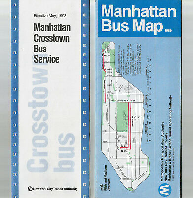 VINTAGE NYC MTA Manhattan Bus Map 1989 and 1993 Crosstown Bus Service on new york city district map, manhattan bicycle map, manhattan street map, manhattan bike paths map, manhattan buses map, manhattan safety map, manhattan bus map, manhattan travel map, manhattan driving map, manhattan taxi map, manhattan parking map, manhattan subway map, manhattan view map, manhattan shopping map, manhattan food map, manhattan rail map, manhattan bridges map, manhattan attractions map, nyc lower manhattan map, manhattan real estate map,