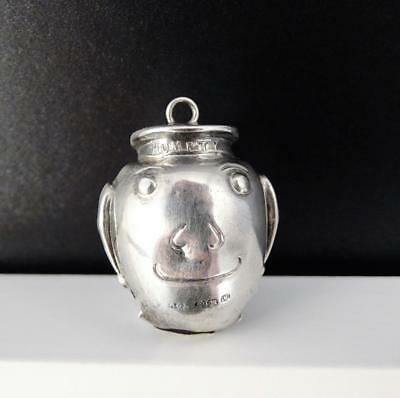 Vintage 1920 Sterling Silver Humpty Dumpty Novelty Watch Fob/baby Rattle