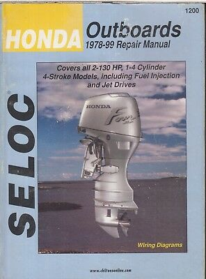 HONDA 2 5 8 9 9 15 25 30 40 50 75 90 115 130hp OUTBOARD ENG '78-99 REPAIR  MANUAL