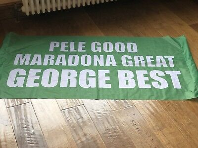 Collectable Manchester United George Best crowd banner from FA Cup 2018