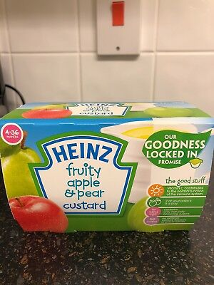 Heinz Fruity Apple And Pear Custard / Baby Weaning / 4-36 Months