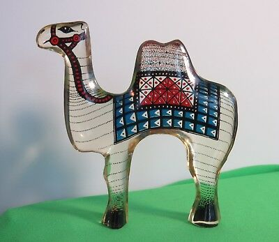 Abraham Palatnik Lucite Acrylic Retro Small Camel with Blue Blanket MCM