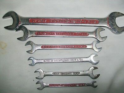 vintage tools 6 sidchrome A/F spanners made in australia