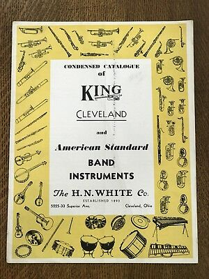 Vintage Catalog of King Cleveland and American Band Instruments H.N White Co.