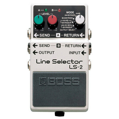Boss LS 2 Line Selector Switch Battery Power Multi Effect Electric Guitar Pedal