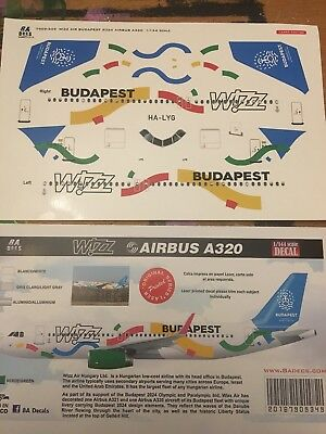 """Decals Airbus A 320 Wizz Air """"Budapest"""" 1:144"""