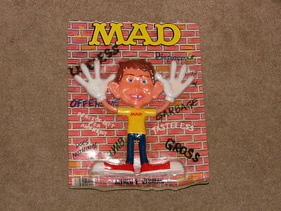 Mad Alfred E Neuman Bendy Figure , Concepts Plus, 1988 ( NEW OLD STOCK )