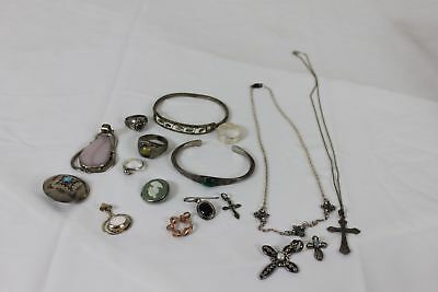 101.4 Gram Lot of Scrap Sterling Silver with Stones