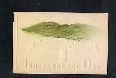 E787 postcard heavily embossed 4th of July Independence Day Patriotic