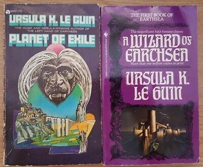 Lot of 2 vintage Ursula Le Guin Fantasy/Sci Fi  (E8-1)