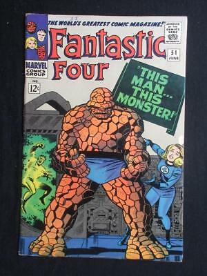 Fantastic Four #51 MARVEL 1966 - HIGHER GRADE - this man...this monster story!!