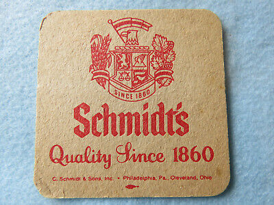 BEER Bar COASTER ~ SCHMIDT'S of Philadelphia, PENNSYLVANIA ~ Quality Since 1860