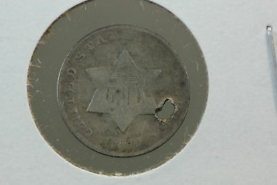 1852 3 Cent Silver Trime G Holed