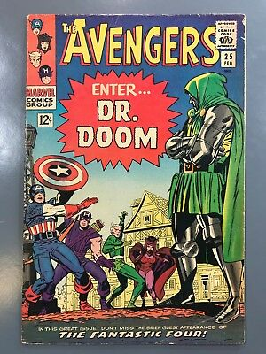 The Avengers No. #25 1966 Silver Age Stan Lee Dr. Doom Appearance