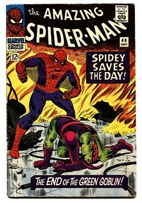 AMAZING SPIDER-MAN #40 comic book 1966-Death of the Green Goblin vg