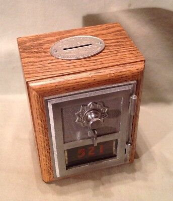 Antique Vintage Post Office Door Mail Box Postal Bank-1960 Federal Equipment Co.