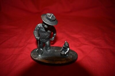 Hudson Pewter No. 314 Smokey the Bear Figurine RARE