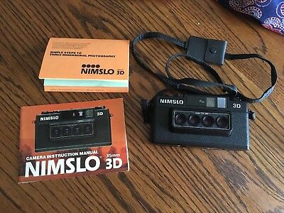 Nimslo 3D Film Camera with Manuals
