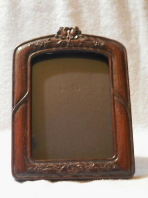 PERIOD ARTS & CRAFTS WOOD EASEL PICTURE FRAME FOR 5 x 7 PHOTO GOOD CONDITION NR!