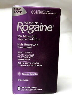 Rogaine Womens Hair Regrowth Treatment 1-Month Supply 2% Minoxidil EXP. 10/2021