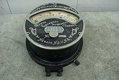 Antique 1898 Weston Electric Dc Volt Meter From A New York Telephone Company