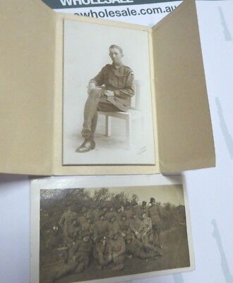 WW1 AIF ANZAC AUSTRALIAN 5th PIONEER BTN AIF PHOTO AND GROUP POSTCARD PTE EVANS