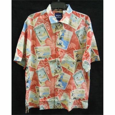 49bdf23f Tommy Bahama DISNEY Parks Mickey Mouse & Friends Silk Mens Shirt SMALL New