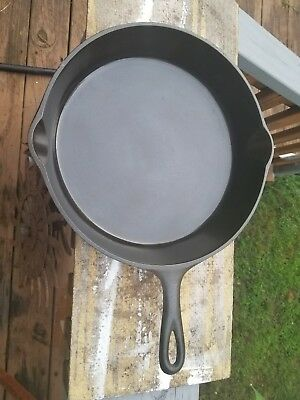 """Vintage Lodge 3 Notch #8-10 1/2"""" Cast Iron Skillet Cleaned and Seasoned"""