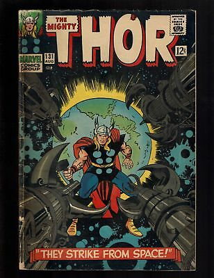 THOR 131 VG+ 4.5 1st RIGEL COLONIZERS HERCULES ARES JANE FOSTER KIRBY LEE