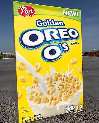 Golden Oreo O's Cereal Post Brand New 19oz NEW FREE SHIPPING