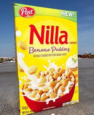 Nilla Banana Pudding Cereal Post Brand New 19oz NEW FREE SHIPPING