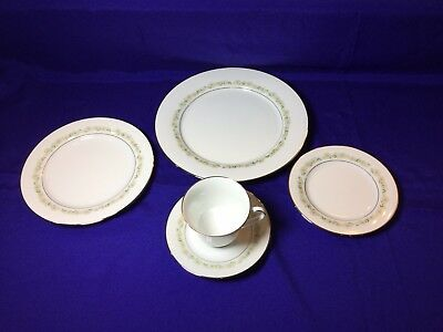 Noritake Trilby China 5 Piece Place Setting #6908