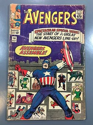 The Avengers No. #16 1965 New Avengers Line Up Stan Lee Jack Kirby