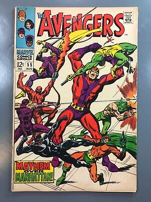 The Avengers No. #55 1968 Silver Age John Buscema 1st First Appearance Ultron-5