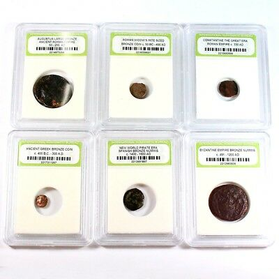 Historic Ancient Coin Lot - 6 Different Coins - Exact Coins Shown rm2745