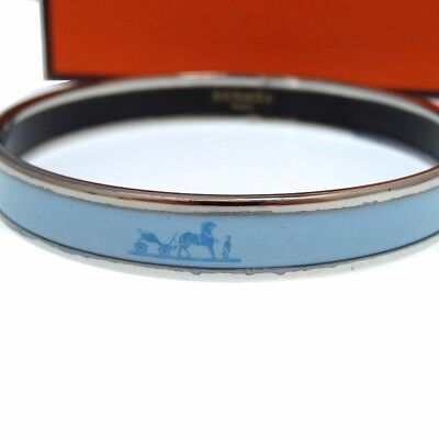 AUTHENTIC HERMES Accessories Bangle turquoise blue Pottery 0174