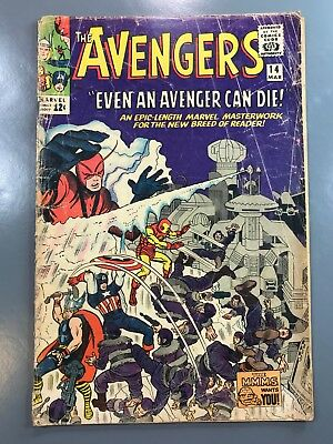 The Avengers No. #14 1965 Silver Age Stan Lee Jack Kirby Watcher Appearance