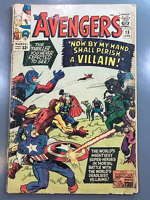 The Avengers No. #15 1965 Silver Age Stan Lee Jack Kirby Masters of Evil