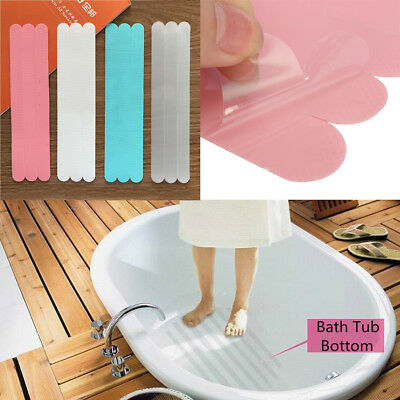 6Pcs Anti Skid Non Slip Bath Tub Strips Shower Treads Safety Sticker Grip
