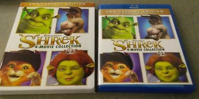 Shrek 4-Movie Collection (Blu-ray) 4-Disc Set Never Viewed Forever After