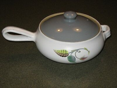 Denby Casserole with Lid and Handle in Spring Pattern England  A College