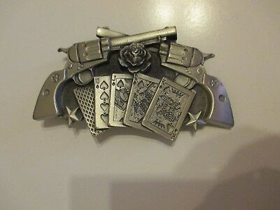 Cards and Pistols Belt Buckle Great American Product