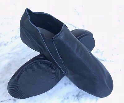 #SALE#  Brand New BLACK Leather Jazz Dance Shoes: Innersole 27.3cm