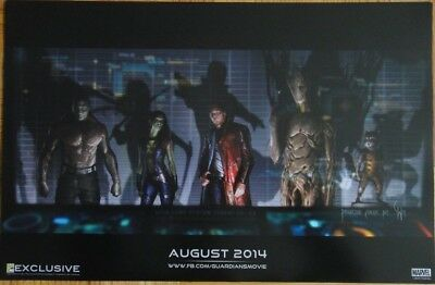2013 SDCC Exclusive Guardians of the Galaxy Marvel Poster San Diego Comic-Con