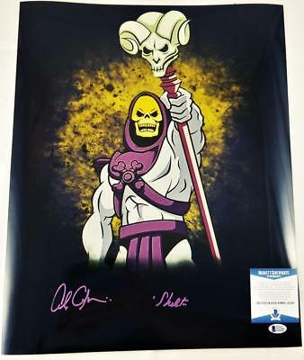 Alan Oppenheimer Skeletor Signed Motu 16X20 Metallic Photo Bas Coa 246