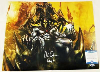 Alan Oppenheimer Skeletor Signed Motu 16X20 Metallic Photo Bas Coa 208